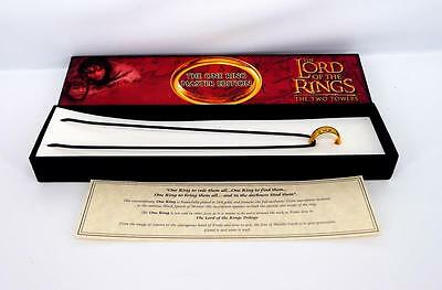 1 Pce The Lord Of The Rings The One Ring Master Edition - 24K Gold Plated Ring