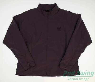New W/ Logo Womens Zero Restriction Golf Jacket X-Large XL Purple MSRP $145