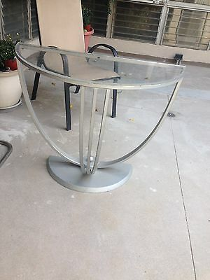 Fabulous Art Deco Demi Lune Table