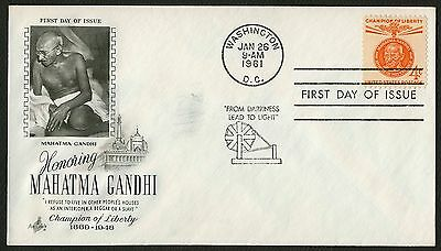#1174 4c Mahatma Gandhi, Art Craft FDC **ANY 4=FREE SHIPPING**