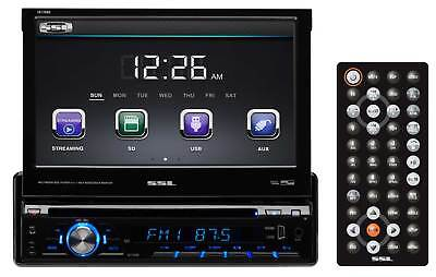 "SSL SD726MB Single-Din 7"" In-Dash DVD Monitor Receiver w/Bluetooth USB/SD/AUX"