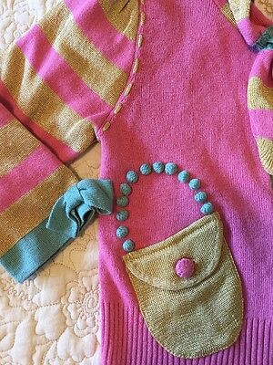 Rare NWT LiaMolly Anthropologie Tea Party Cardigan Sweater Baby Girl 18-24 Mo