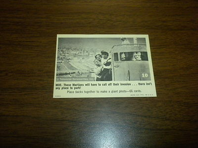 THE THREE STOOGES trading card #10 Fleer 1966 black and white U.S.A.