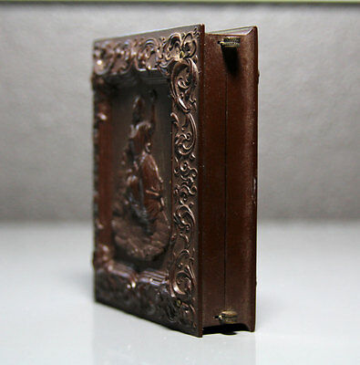 Beautiful & Very RARE Antique 1858 Case For 1/6 Photos // Woman Playing with Dog