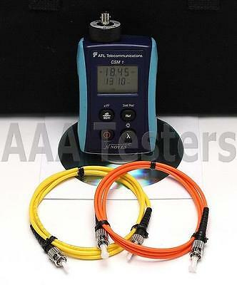 AFL Noyes CSM1 SM MM Fiber Optic Power Meter CSM1-2 CSM 1-2