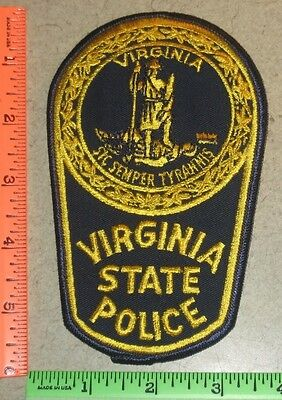 Virginia VA State Trooper Police Law Enforcement Patch - Sic Semper Tyrannis