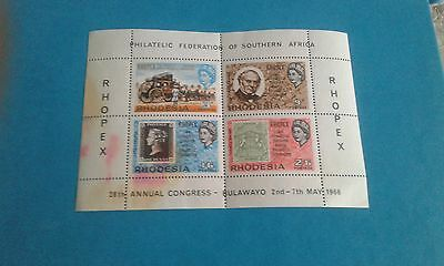 Zimbabwe Stamps Blocks Mint/ Fdc / Rhodesia 1966 Miniature Sheet / 1981 Rsa