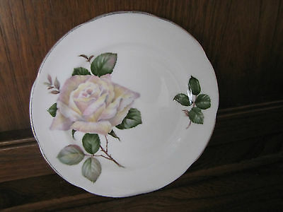 Stunning Royal Adderley~Pour Toi~15.5cms Tea/Side Plate.  White Rose