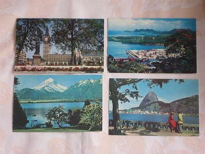 Lot Of 8 Chrome Pcs, All Pan American Airlines Cards, Worldwide Pictures