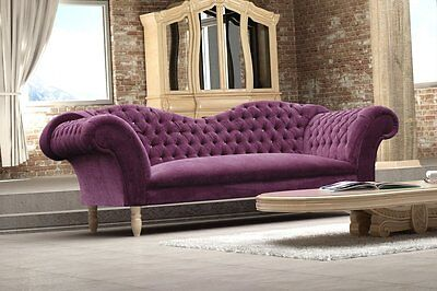 Cupido 3-Sitzer Sofa 3er Steppungen Couch Chesterfield Design 1077