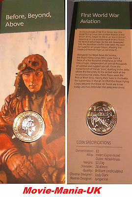 NEW 2017 two pound £2 Coin WW1 AVIATION BUNC