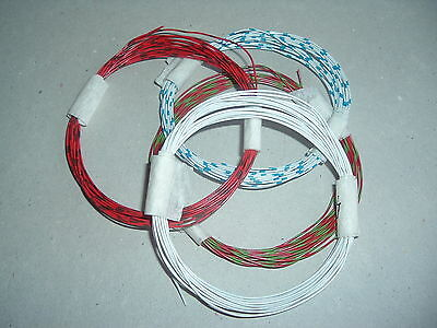 Solid Wire. Red/Green, White/Blue, Red/Brown, & White (4m of each)