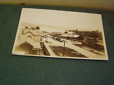 Rare Narooma From The Church Tower New South Wales -  Australia Rp Postcard