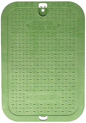 NDS 113C Green, Irrigation Control Valve Box Cover 12Inch x 17Inch