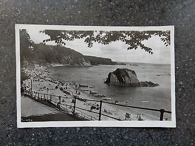 1950's Real Photo Postcard - Tenby view - Pembrokeshire Wales