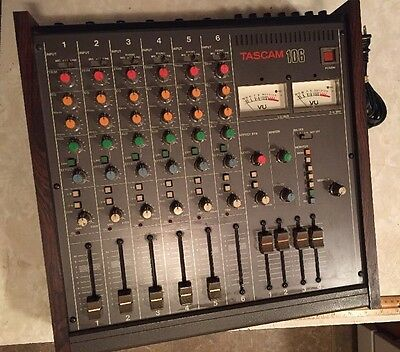 vintage Tascam 106 6 Channel analog mixer MIJ tested console