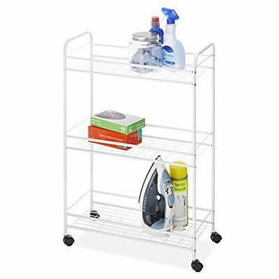 WHITMOR 6023-6001 Household Cart Slim 3Tier Wht