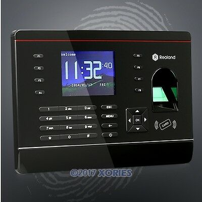 Biometric Fingerprint And RFID Card Attendance Time Clock With TCP/IP +USB