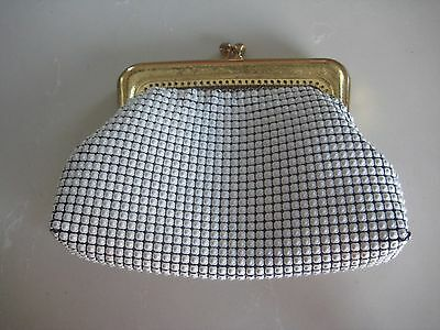 Vintage OROTON WHITE Glomesh Coin Purse 1970s era with Firm Clasp -Used Conditio