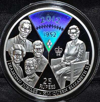 2011 Seychelles 25 Rupees Proof Silver Coin- Queen's Diamond Jubilee