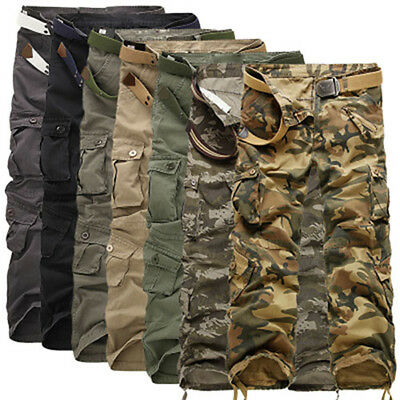 Men Army Combat Pants Military Camouflage Camo Cotton Cargo Trousers Outdoor