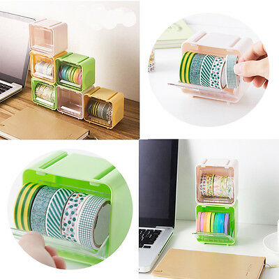 1 PC  Masking Tape Box Washi Tape Storage Organizer Desktop Tape Holder