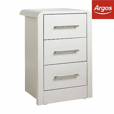 Heart of House Elford 3 Drawer Bedside Chest - Grey -From the Argos Shop on ebay