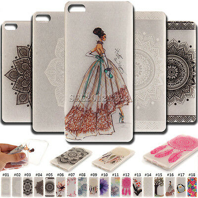 Cute Soft Clear Protective Skin Back Silicone Various TPU Case Cover For Lenovo