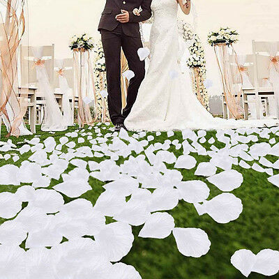 100pcs Silk Flower Rose Petals Wedding Party Decoration White Favors Decoration