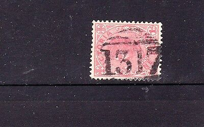 VICTORIA  second type Barred Numeral    (1317) of TALLY HO  rated R