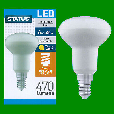 2x 4W (=40W) R50 Reflector SES LED Low Energy Spot Light Bulb Lamp, Warm White