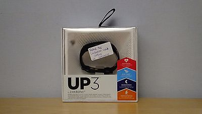 Jawbone UP 3 Black Wrist Band Complete With Box and Charger USED