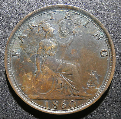 Farthing 1860 - 1/4d Victoria
