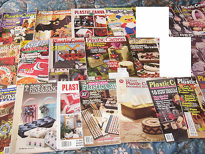 plastic canvas BOOKS large lot mixed patterns, halloween, christmas, country +++