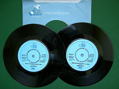 "BARRY WHITE - WHAT AM I GONNA DO WITH YOU ?.  7""SINGLE (UNPLAYED Orig U.K SINGLE"