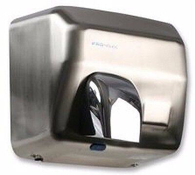 2.5KW HAND DRYER CHROME BRUSHED STEEL HOT AIR Automatic Wall Mounted blower