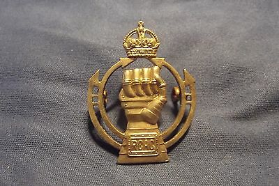 WW II Canadian Cap Badge To The Royal Canadian Armoured Corps 1945