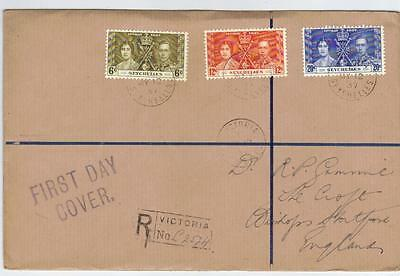 Seychelles 1937 Coronation First Day Cover