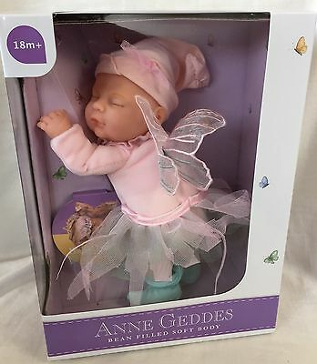 "Anne Geddes Collectible 9"" Bean Filled Soft Toy Doll Adorable Baby Fairy BN"