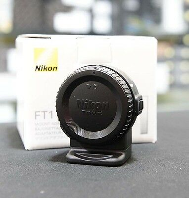 Nikon FT-1 Mount Adapter (Nikon 1 Mirrorless to Nikon F Mount) FT1 Mint