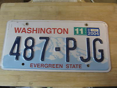2004 Washington License Plate Expired 487 Pjg