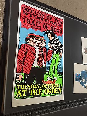Queens Of The Stone Age Rare Signed Numbered Concert Poster Lindsey Kuhn 2002