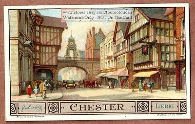 Chester England Europe Cities 1930s Trade Ad  Card