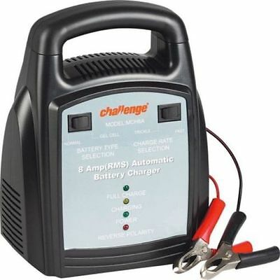 Challenge 12v 8 Amp Heavy Duty Portable Automatic Battery Charger (Car Van Bike)