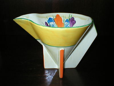 Clarice Cliff Bizarre Art Deco Large Conical Milk Jug Crocus Newport Pottery
