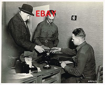 Wwii Rare Photo 8X10 3Rd Army 76Th Div German Turns Ins Weapons Id'd 1945 Look
