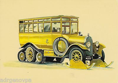 The first postal bus a Scania-Vabis from 1923 - Postcard cm.14,7x10,5