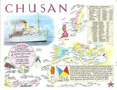 SHIPPING & MAP - CHUSAN  SUPERB FAGA PAPER PROOF  Fine