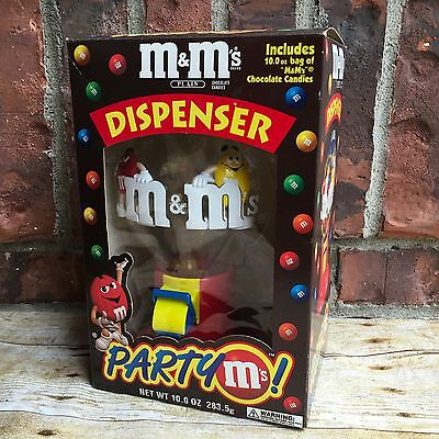 M&M'S BRAND Party M's Candy Dispenser w/ Box Vintage Collectible Very Nice!!!