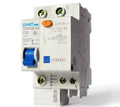 Genuine CHNT DZ47LE-1P+N  230V C10-C60 Earth Leakage Protection Circuit Breaker